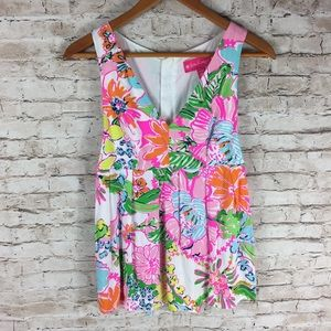 Lilly Pulitzer for Target Bright Floral Tank Top